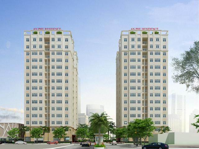 Phối cảnh 2 tòa tháp chung cư cao cấp An Phú Residence.