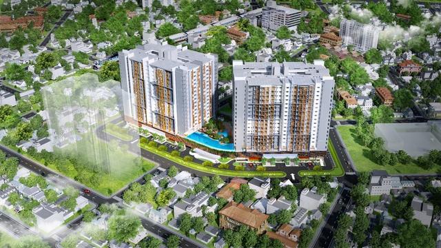 Phối cảnh dự án Topaz Twins căn hộ cao cấp tại Biên Hòa.