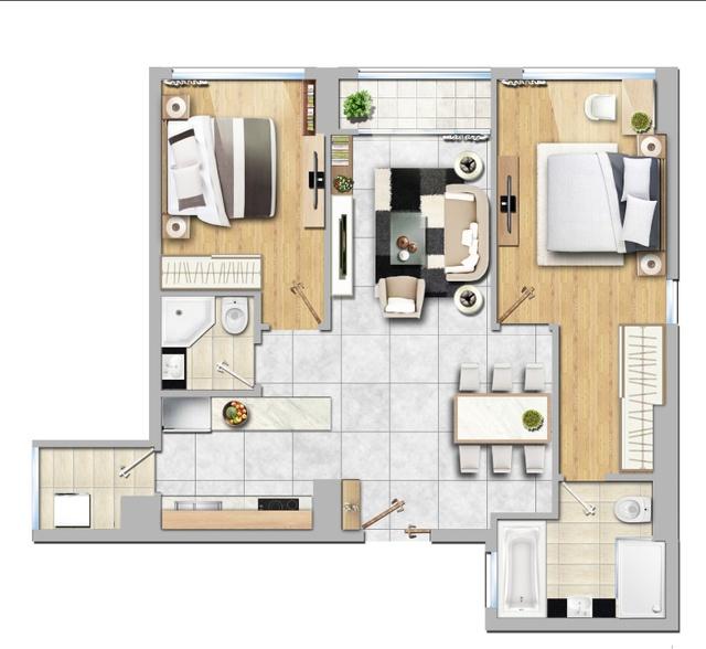 Nội thất trẻ trung của căn hộ 2 phòng ngủ ngập tràn ánh nắng - Ảnh 1.
