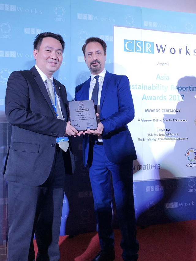 PNJ đạt giải báo cáobềnvữngtốt nhất châu Á do ASRA trao tặng - Ảnh 1.