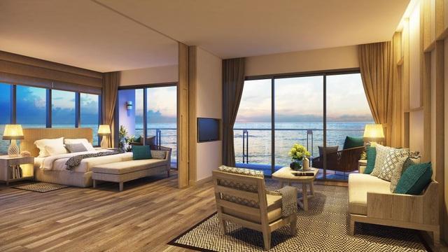 Nét độc đáo của căn hộ cao tầng khách sạn 100% mặt các con phố biển ở Melia Hồ Tràm at The Hamptons - Ảnh 2.