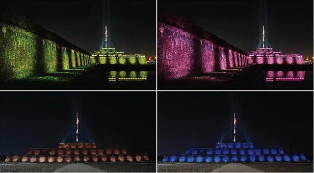 Đèn LED mỹ thuật tạo sức sống mới cho Kỳ Đài Huế - Ảnh 1.