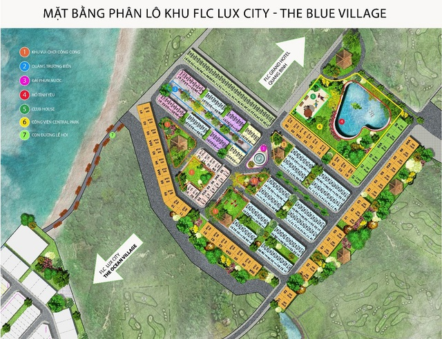 Mặt bằng tiểu khu FLC Lux City – The Blue Village.