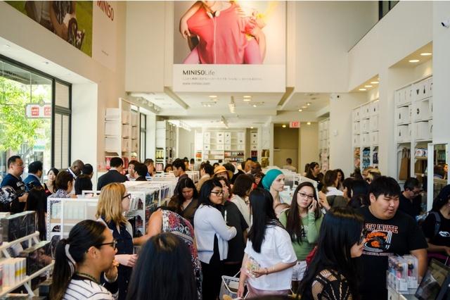 Hình ảnh cửa hàng Miniso tại Mỹ.