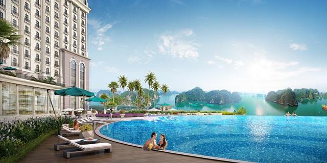 Bể bơi vô cực ngoài trời rộng 1.000 m2.