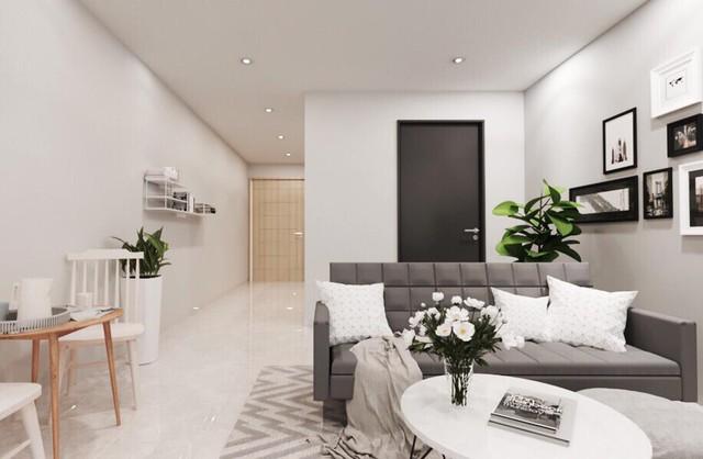 Phòng khách dòng căn hộ cao cấp của một dự án thuộc Biên Hòa City Square.