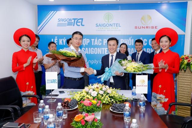 Saigontel và Sunrise ký kết hợp tác phân phối độc quyền dự án Saigontel Central Park - Ảnh 1.