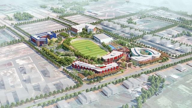 Chuẩn bị cất nóc dự án Thành phố giáo dục IEC Quảng Ngãi - Ảnh 3.