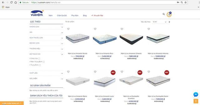 Hệ thống bán lẻ nệm do Mekong Capital đầu tư ra mắt website thương mại điện tử mới - Ảnh 1.