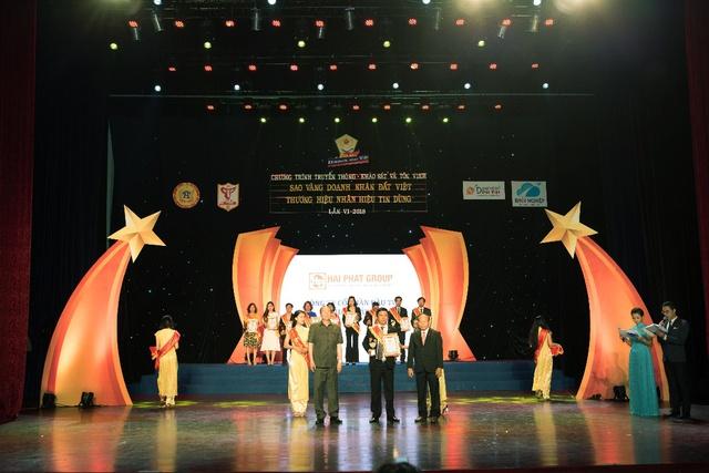 Hải Phát Invest được tôn vinh tại lễ trao giải Sao vàng doanh nhân Đất Việt 2018 - Ảnh 1.