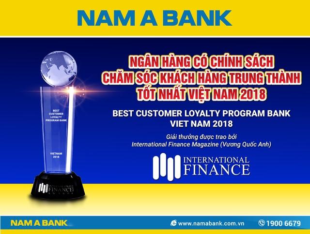 Nam A Bank được IFM vinh danh là ngân hàng có chính sách chăm sóc khách hàng trung thành tốt nhất Việt Nam 2018 - Ảnh 1.