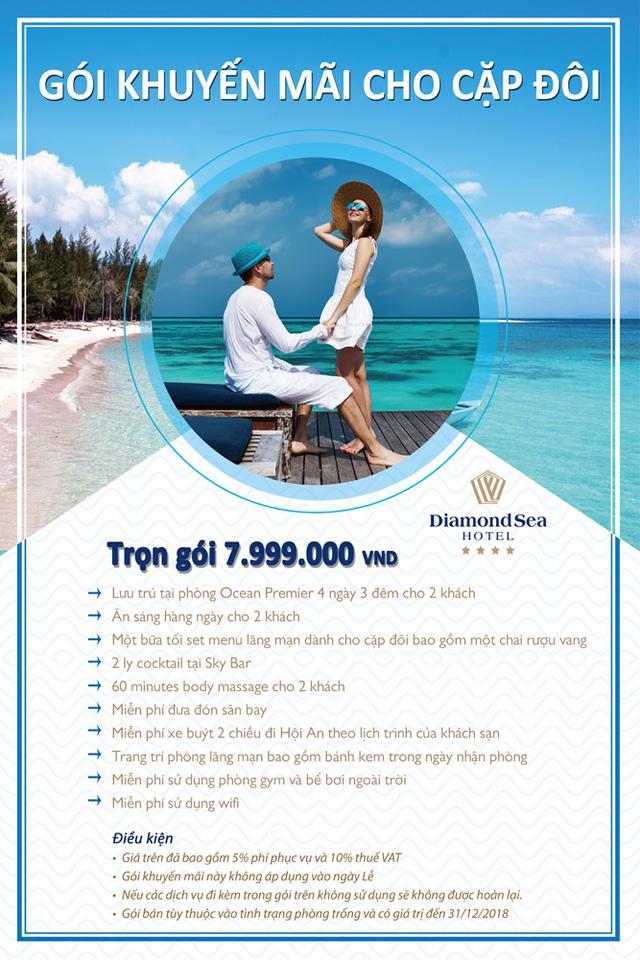 Diamond Sea Hotel - Điểm đến hấp dẫn cho các cặp đôi ghé thăm Đà Nẵng - Ảnh 2.