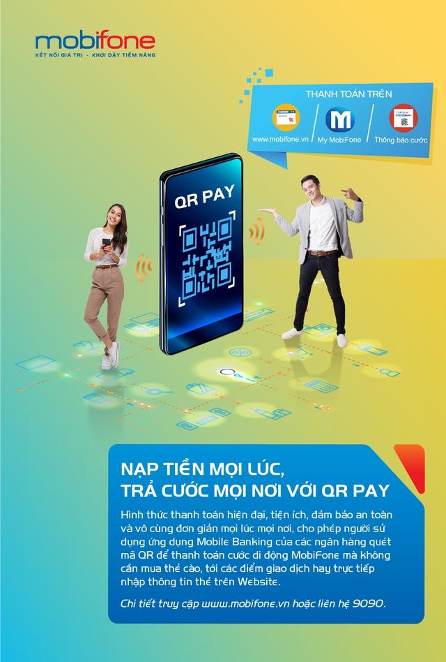 """Thanh toán cước trả sau MobiFone trong """"một nốt nhạc"""" với mã QR - Ảnh 1."""