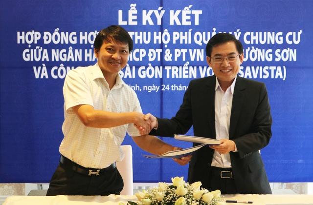 Lễ ký kết hợp đồng hợp tác thu hộ phí quản lý chung cư giữa SAVISTA và Ngân hàng BIDV CN Trường Sơn - Ảnh 2.