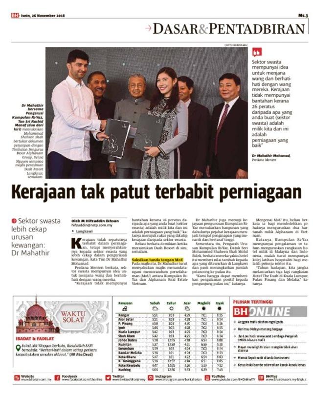 """Alphanam mở rộng hợp tác có """"ngôi sao"""" ngành khách sạn Malaysia - Ảnh 1."""