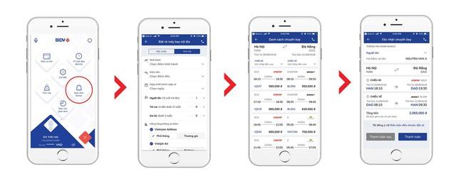 Đặt vé máy bay nhanh chóng và dễ dàng hơn với ứng dụng ngân hàng - Ảnh 1.