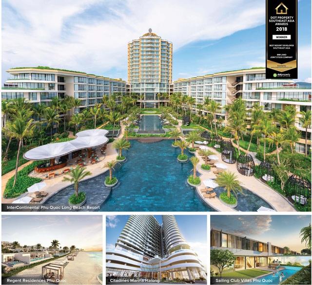 BIM Land được vinh danh Nhà phát triển bất động sản nghỉ dưỡng tốt nhất Đông Nam Á 2018 - Ảnh 1.