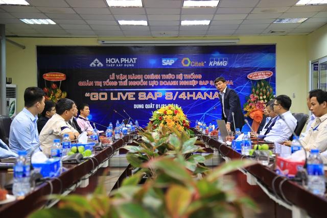 Khu liên hợp gang thép Hòa Phát Dung Quất chính thức vận hành hệ thống quản trị SAP S/4HANA - Ảnh 1.