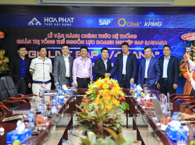 Khu liên hợp gang thép Hòa Phát Dung Quất chính thức vận hành hệ thống quản trị SAP S/4HANA - Ảnh 2.