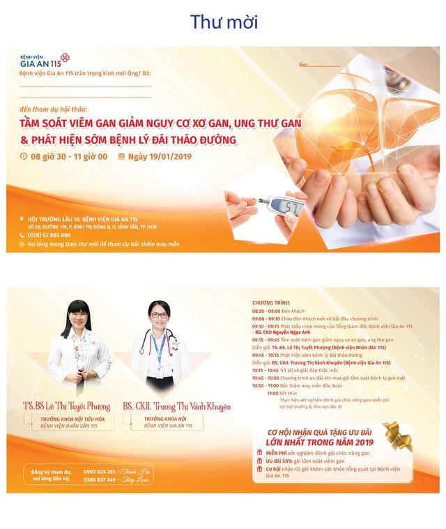 """Bệnh viện Gia An tổ chức hội thảo """"Tầm soát viêm gan giảm nguy cơ xơ gan, ung thư gan và phát hiện sớm bệnh lý đái tháo đường"""" - Ảnh 1."""