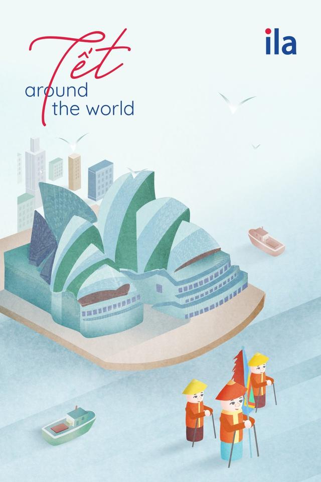 """""""Tết Around The World"""" - dự án nghệ thuật sáng tạo ngày Tết của ILA - Ảnh 2."""