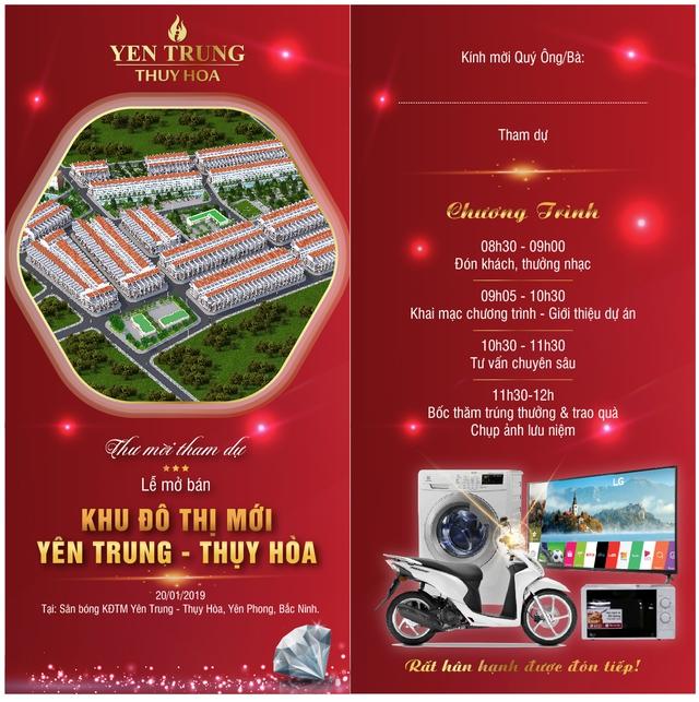 Công bố chính thức Lễ mở bán Dự án Khu đô thị mới Yên Trung Thụy Hòa - Ảnh 2.