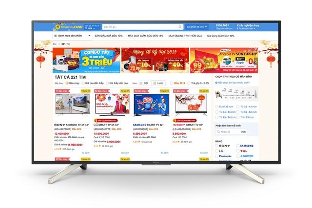 Thương mại điện tử khuấy động thị trường TV mùa Tết - Ảnh 1.
