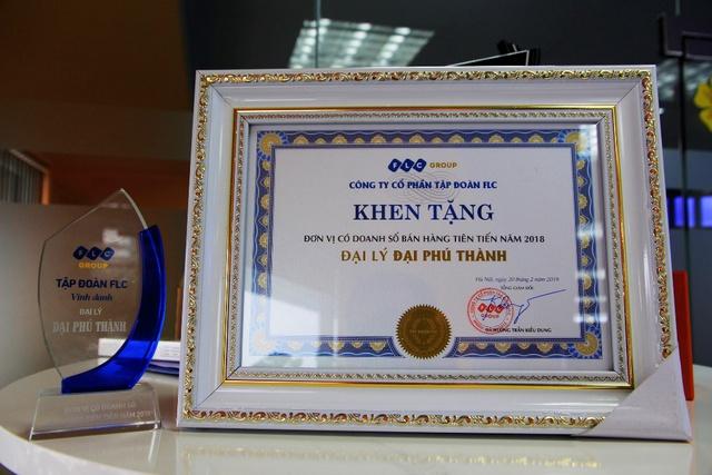 Đại Phú Thành nhận danh hiệu đại lý hiện đại từ tập đoàn FLC - Ảnh 1.