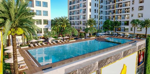 Dự án căn hộ cao tầng hạng sang ở quận 8 sử dụng hồ bơi điện phân đồng - Ảnh 1.