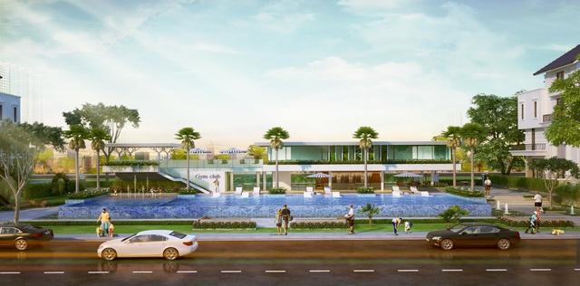 Hồ bơi trung tâm dự án SaiGon Mystery Villas