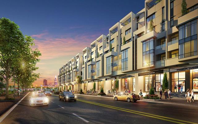 Khu nhà phố thương mại bên sông dự án SaiGon Myestery Villas