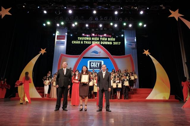 """Nội thất COZY nhận giải thưởng Top 10 """"Thương hiệu tiêu biểu châu Á – Thái Bình Dương 2017"""" - Ảnh 1."""