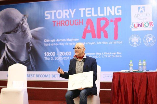 Nghệ sĩ tài ba James Mayhew và 2 ngày không thể quên tại Việt Nam - Ảnh 2.
