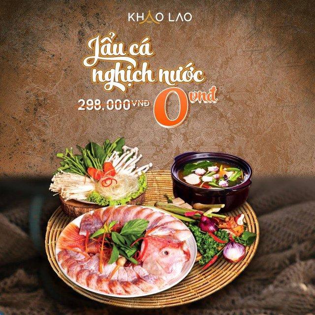 Thưởng thức lẩu cá nghịch nước hấp dẫn chỉ 0đ tạo Khao Lao – Nhà hàng Lào - Ảnh 2.