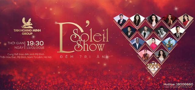 """Ngày 13/1, Tân Hoàng Minh tổ chức """"D'. Soleil Show"""" tri ân khách hàng - Ảnh 1."""