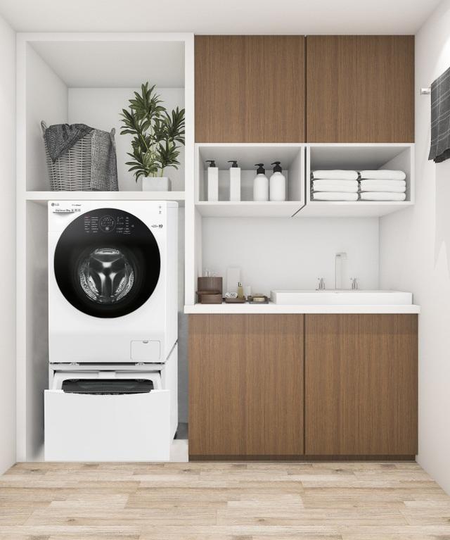 Biến tấu không gian ngôi nhà bạn với máy giặt lồng đôi - Ảnh 2.