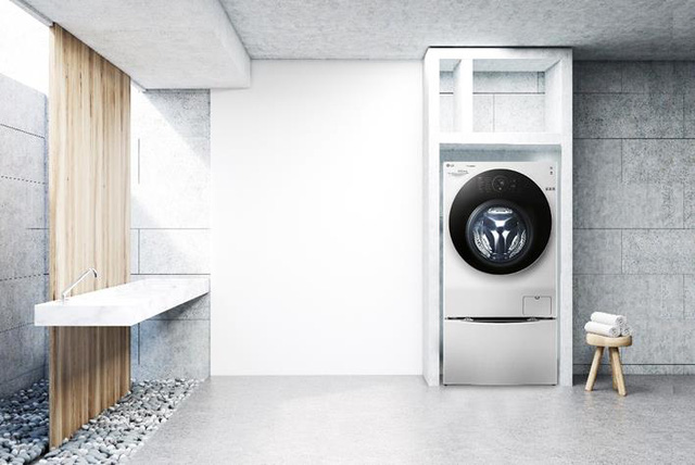 Biến tấu không gian ngôi nhà bạn với máy giặt lồng đôi - Ảnh 3.