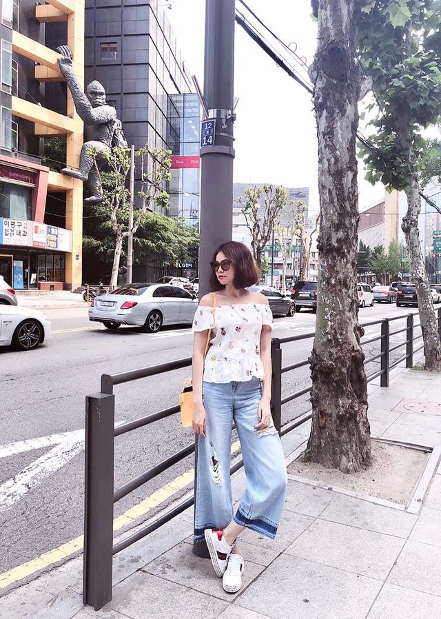 Đào Lan Phương - Con dâu tỉ phú Hoàng Kiều cực trẻ trung và cá tính tại Seoul - Ảnh 1.