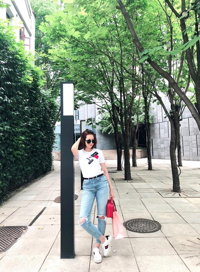 Đào Lan Phương - Con dâu tỉ phú Hoàng Kiều cực trẻ trung và cá tính tại Seoul - Ảnh 4.