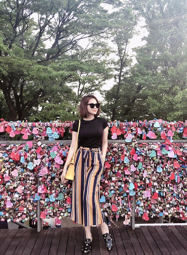 Đào Lan Phương - Con dâu tỉ phú Hoàng Kiều cực trẻ trung và cá tính tại Seoul - Ảnh 5.