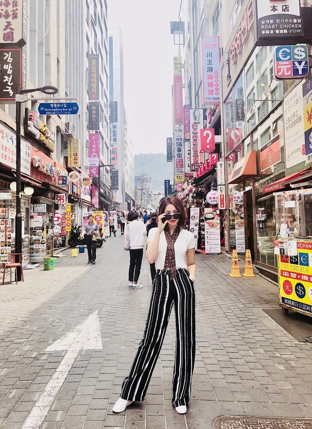 Đào Lan Phương - Con dâu tỉ phú Hoàng Kiều cực trẻ trung và cá tính tại Seoul - Ảnh 9.