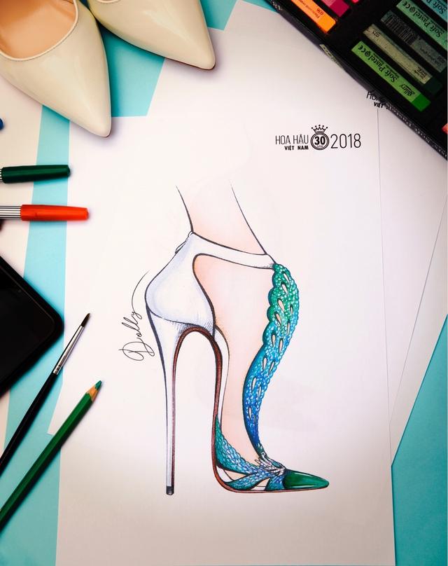 Bật mí mẫu thiết kế giày trị giá hơn 300 triệu cho Tân HHVN 2018 - Ảnh 3.