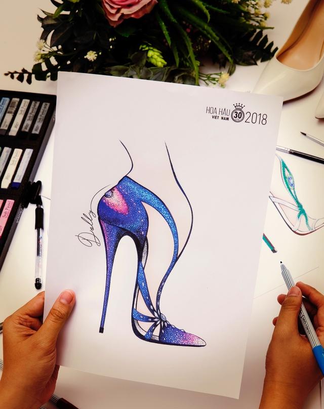 Bật mí mẫu thiết kế giày trị giá hơn 300 triệu cho Tân HHVN 2018 - Ảnh 5.