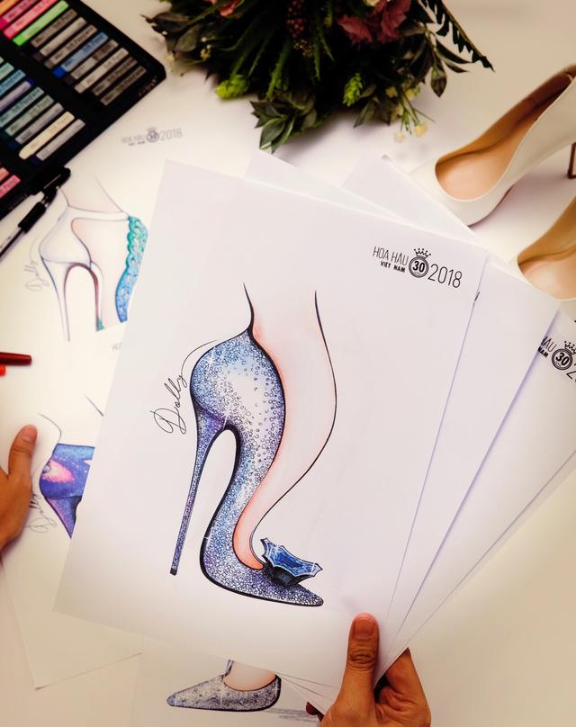 Bật mí mẫu thiết kế giày trị giá hơn 300 triệu cho Tân HHVN 2018 - Ảnh 6.
