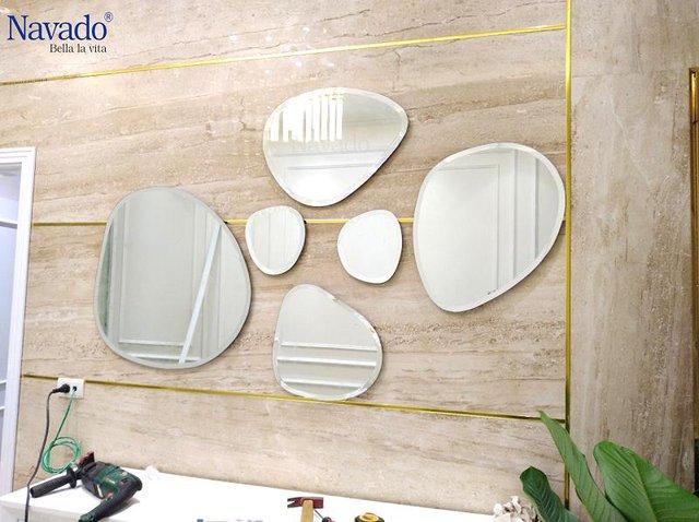 12 mẫu gương trang trí phòng khách sang chảnh - Ảnh 7.