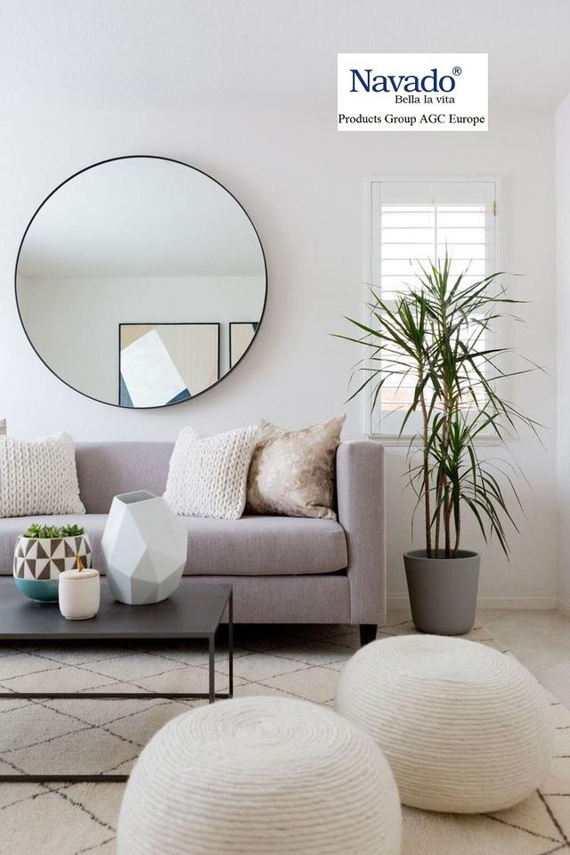 12 mẫu gương trang trí phòng khách sang chảnh - Ảnh 9.