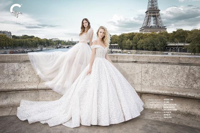 """""""Váy cưới trong mơ"""" Calla của NTK Phương Linh khoe sắc tại Paris hoa lệ - Ảnh 2."""