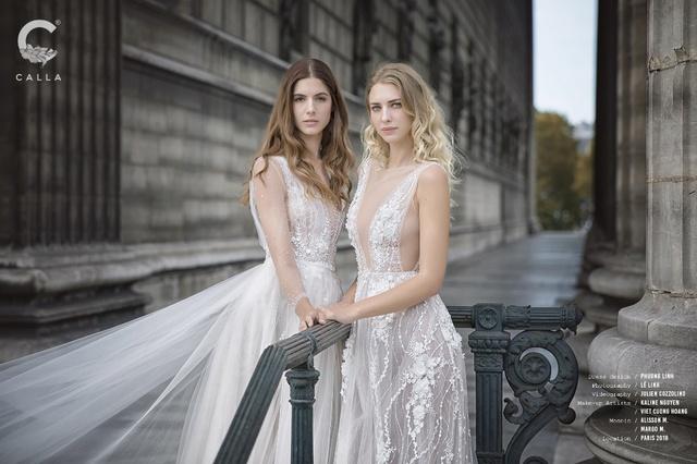 """""""Váy cưới trong mơ"""" Calla của NTK Phương Linh khoe sắc tại Paris hoa lệ - Ảnh 9."""