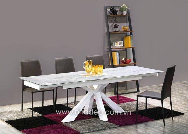 5 mẫu bàn ăn mở rộng sang trọng cho cuộc sống hiện đại - Ảnh 3.