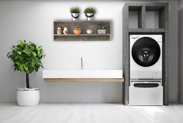 Bí kíp thiết kế góc giặt riêng siêu tiện ích - Ảnh 2.
